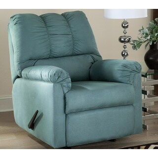 Signature Design by Ashley, Darcy Contemporary Sky Rocker Recliner