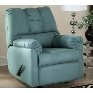 Bon Signature Design By Ashley, Darcy Contemporary Sky Rocker Recliner