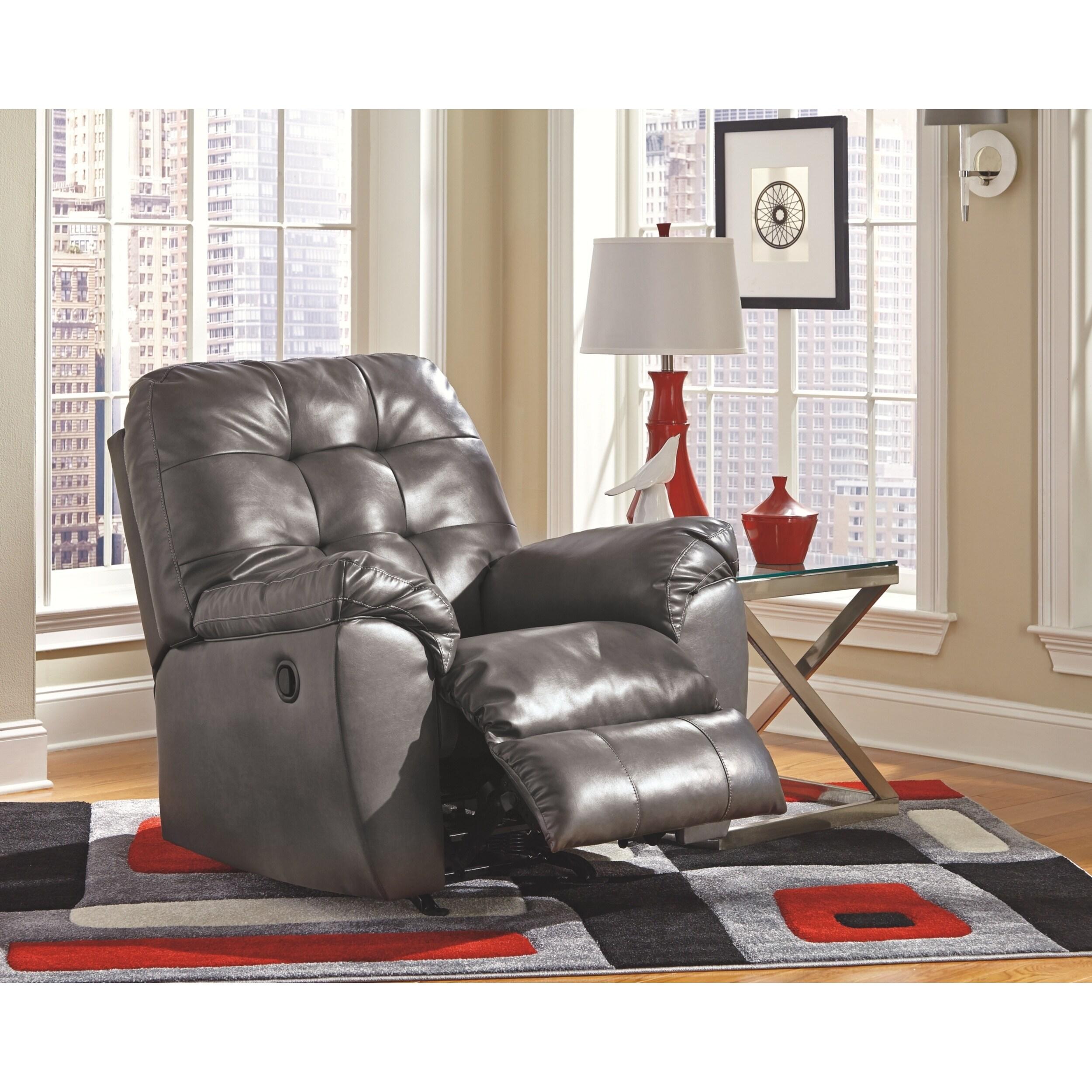 Admirable Alliston Contemporary Gray Rocker Recliner Creativecarmelina Interior Chair Design Creativecarmelinacom