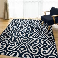 Santee Navy Area Rug by Orian Rugs - 7'7 x 10'