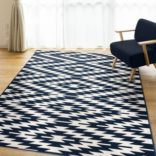 Ladona Navy Area Rug by Orian Rugs - 7'7 x 10'