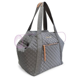 Adrienne Vittadini Quilted Yoga Bag-Gray