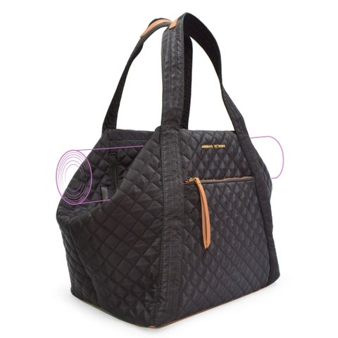 Adrienne Vittadini Quilted Yoga Bag-Black