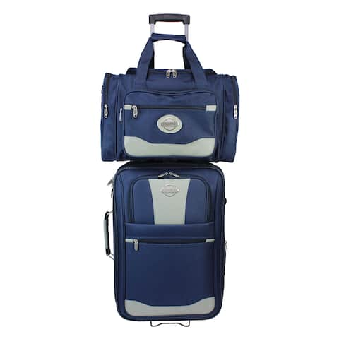 American Transworld 2-piece Expandable Wheeled Carry-On Luggage Set