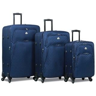 World Traveler Signature 3-Piece Expandable Spinner Luggage Set