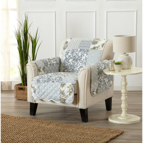 Home Fashion Designs Patchwork Scalloped Stain Resistant Printed Chair Protector