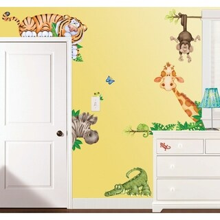 In the Jungle Super Jumbo Applique Wall Decal
