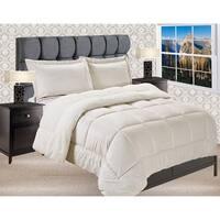 Elegant Comfort Reversible Sherpa Micro-Suede 3-Piece Comforter Set
