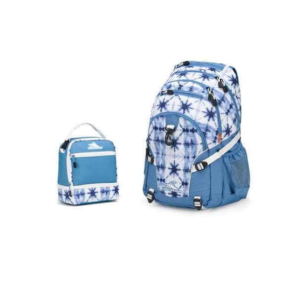 fc506c3c7d13c8 High Sierra Loop Backpack + Stacked Compartment Lunch Kit - Indigo Dye