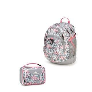High Sierra Fatboy Backpack + Single Compartment Lunch Kit - Safari Ash
