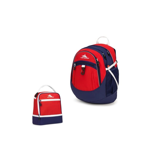 9c2eb6ca860dee High Sierra Fatboy Backpack + Stacked Compartment Lunch Kit - Crimson/True  Navy