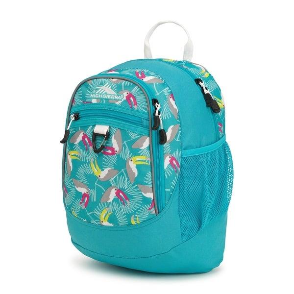 Shop High Sierra Mini Fatboy Backpack Toucans Tropic Teal