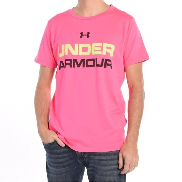 1858e6bd Shop Men'S Workout T-Shirt In Neon Pink - Neon Pink - Free Shipping ...