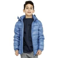 Save The Duck Lightweight Boys Jacket With Hood In Blue