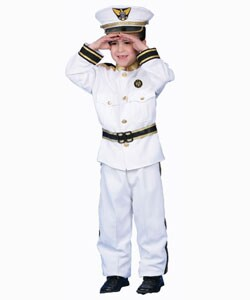 Deluxe Navy Admiral Costume Set (4 options available)