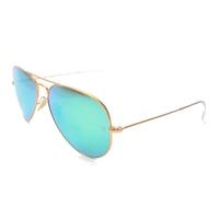 Aviator Flash lenses with Green mirror