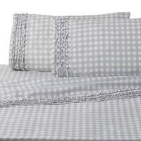 WestPoint Home Cammy Gingham Grey Sheet Set