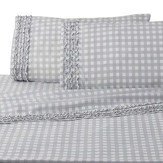 WestPoint Home Cammy Gingham Grey Sheet Set (4 options available)