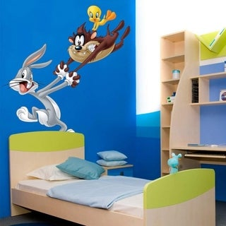 "Friends Cartoon Loony Tunes Full Color Wall Decal Sticker K-747FRST Size40""x40"""