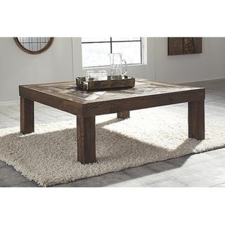 Signature Design by Ashley, Ossereene Contemporary Brown Coffee Table