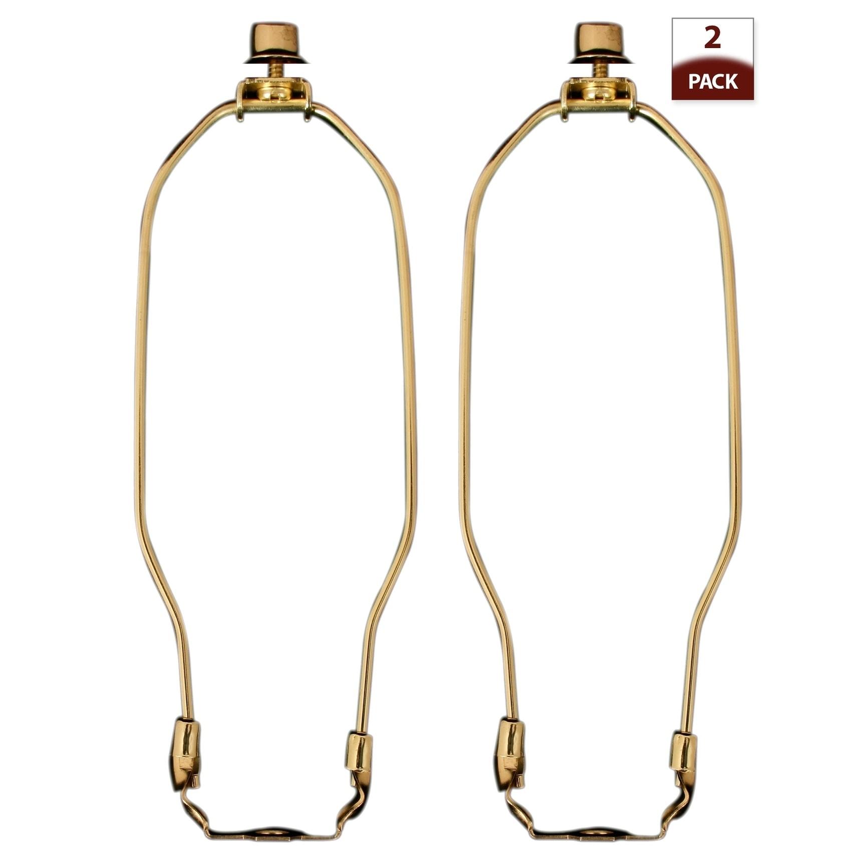 7 Royal Designs HA-1002-7BR-2 Lamp Harp Finial And Lamp Harp Holder Set Polished Brass