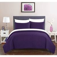 Chic Home Mather 7 Piece Bed in a Bag Quilt Cover Set, Purple