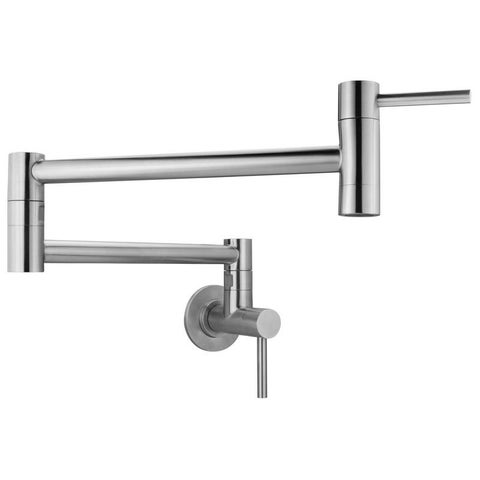 Geyser GF46 Andorra Series Stainless Steel Wall Mount Pot Filler Faucet