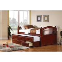 Coastal Chestnut Twin-over-twin Daybed