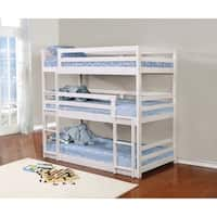 Havenside Home Margate White Three-bed Bunk Bed
