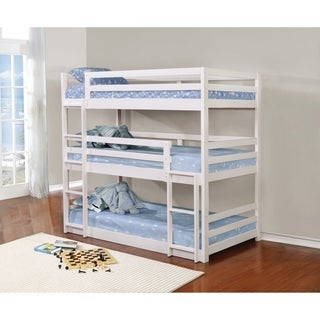 Sandler White Three Bed Bunk Bed