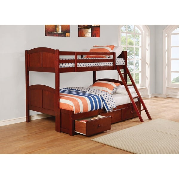 Shop Parker Chestnut Twin Over Full Bunk Bed On Sale Free