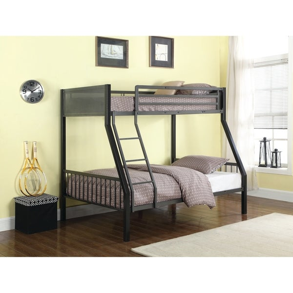Shop Meyers Traditional Grey Twin Over Full Bunk Bed Free Shipping
