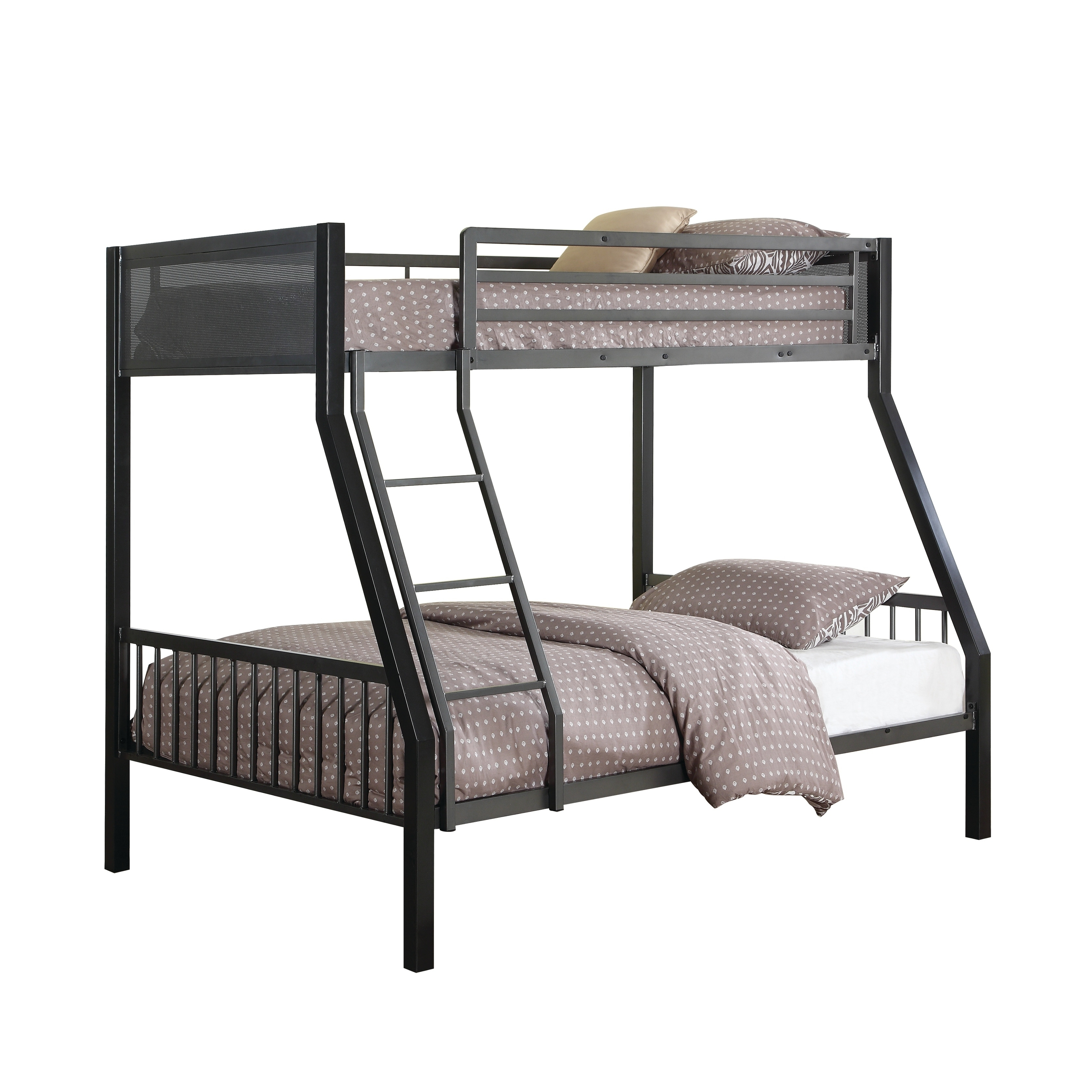 Image result for metal twin over full bunk bed