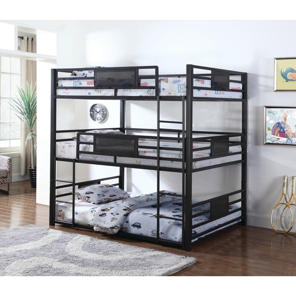 Shop Taylor Olive Chicot Casual Black Triple Bunk Bed On Sale