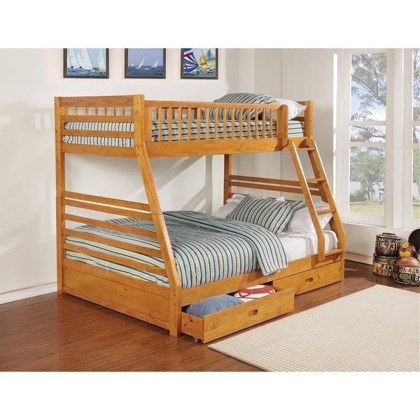 Taylor & Olive Graffton Transitional Light Honey Twin-over-full Bunk Bed