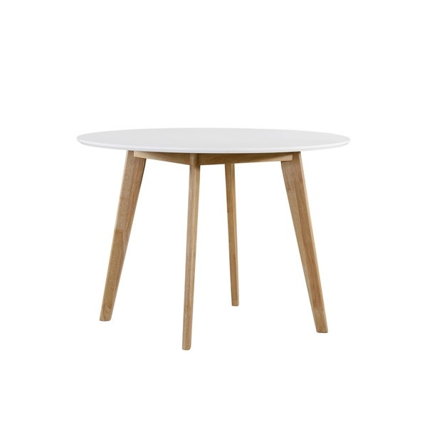 Shop Handy Living Edgewater Round White Dining Table With