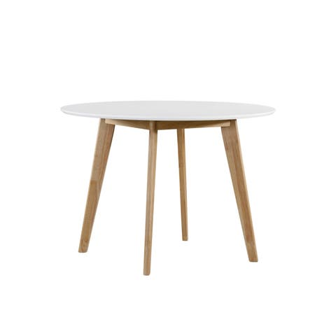 Carson Carrington Grums Round White Dining Table