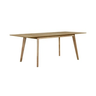 Handy Living Windsor Rectangular Butterfly Leaf Natural Dining Table