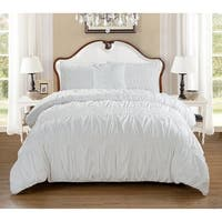 Elegant Comfort 4-PIECE Bed in a Bag Puff Collection Comforter Set