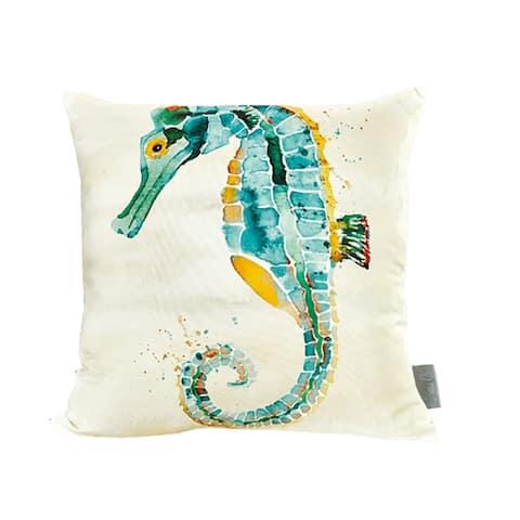 Sara B. Seahorse 20 in. Square Throw Pillow