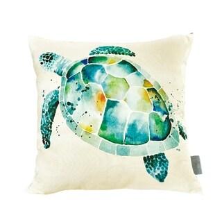 Sara B. Sea Turtle 20 in. Square Throw Pillow
