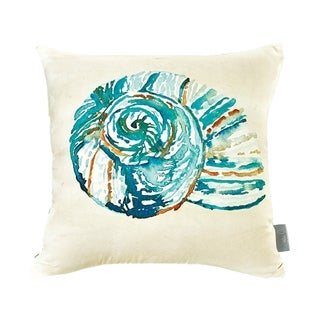 Sara B. Conch Shell 20 in. Square Throw Pillow