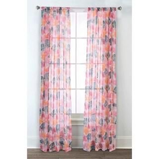 Sara B. Calypso Printed Sheer Curtain Panel Set