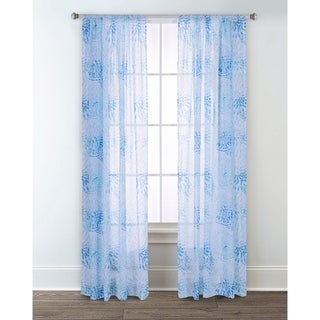 Sara B. Sundial Printed Sheer Curtain Panel Set