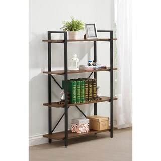 Pine Canopy Endine Industrial Walnut Four Shelf Bookcase