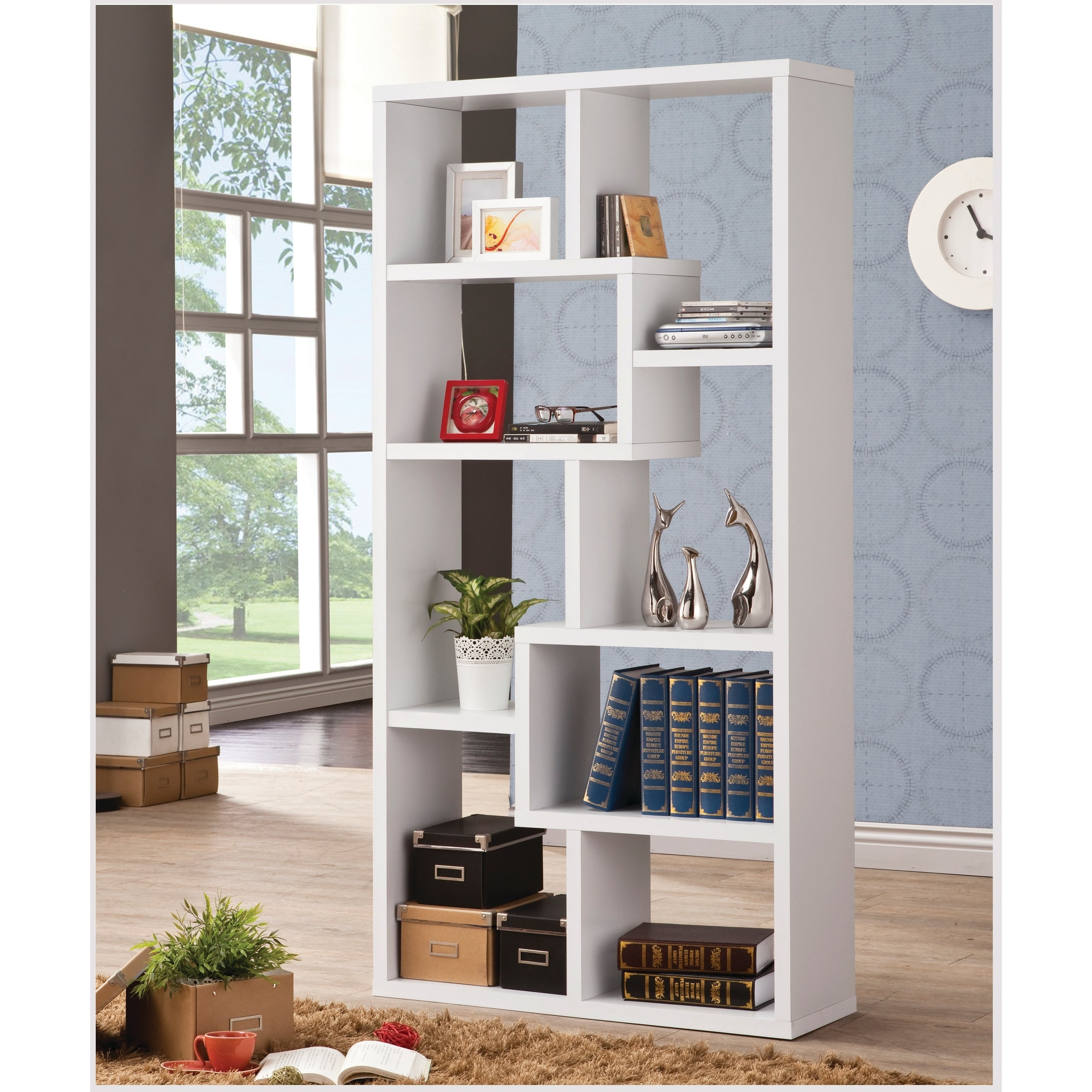 White 8 Shelf Modular Bookcase