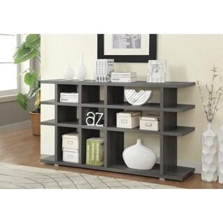 Contemporary Weathered Grey 9-shelf Bookcase