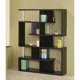 Transitional Black 10-shelf Bookcase