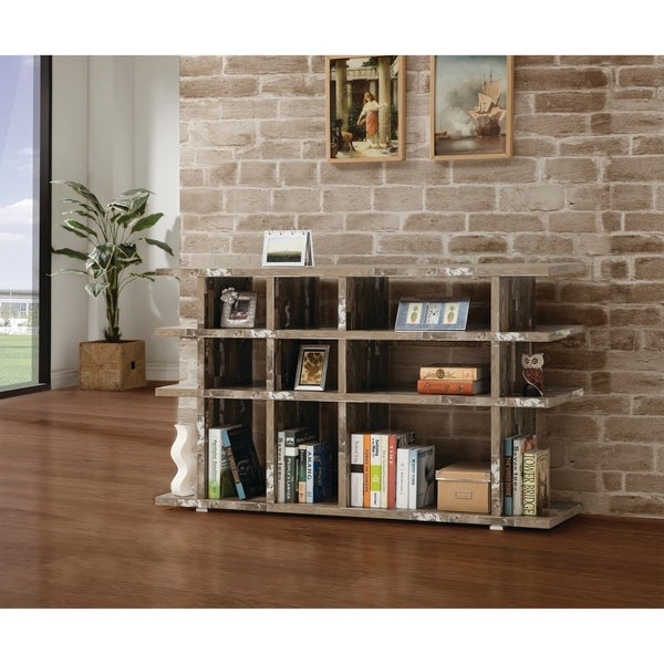 Shop Rustic Salvaged Cabin Low Profile Bookcase 63 Quot X 15 25 Quot X 36 75 Quot Free Shipping Today