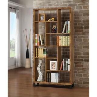 Rustic Antique Nutmeg 10-shelf Bookcase